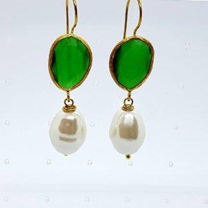 orecchini con quarzo verde Orecchini con quarzo verde e con perla di Maiorca 1 copia 4 300x300