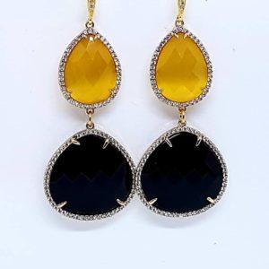 orecchino quarzo nero e giallo Orecchino con quarzo nero e quarzo giallo 1 copia 5 1 300x300