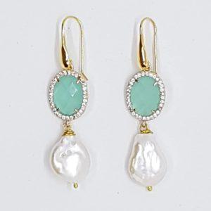 Orecchini color Tiffany e perla scaramazza piatta cod. OT0004 50680186 599007010652065 157690587561066496 n 300x300
