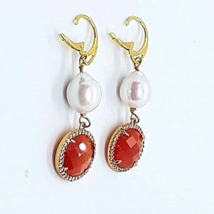 orecchini perle naturali Orecchini con Perle Naturali e con Quarzo rosso 66623008 362701854418245 5758004208385130496 n 300x300