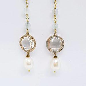 orecchino con perle di fiume naturali agata e cristalli briolette Orecchino con perle di fiume naturali, agata e cristalli briolette 66981001 475019149916174 6796734103233232896 n 300x300