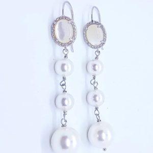 orecchino perla agata e cristalli briolette Orecchini con perle di fiume, con quarzo e con cristalli briolette 79665341 2474556916117886 4393425538610364416 n 300x300