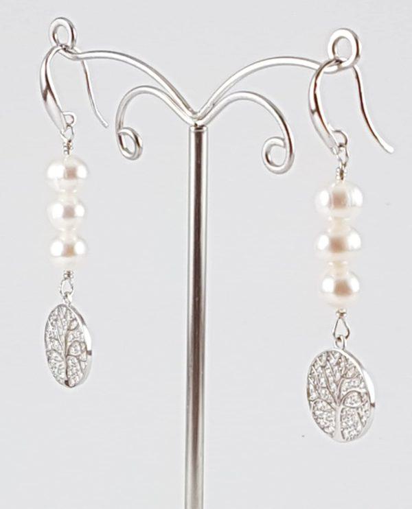 orecchini argento albero vita profilo