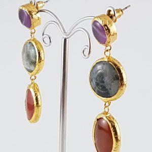 orecchini pendenti pietra viola orecchini pendenti pietra viola Orecchini Pendenti Pietra Viola 4 300x300