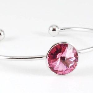 bracciale swarovski rosa Bracciale con cristalli Swarovski rosa 45 300x300