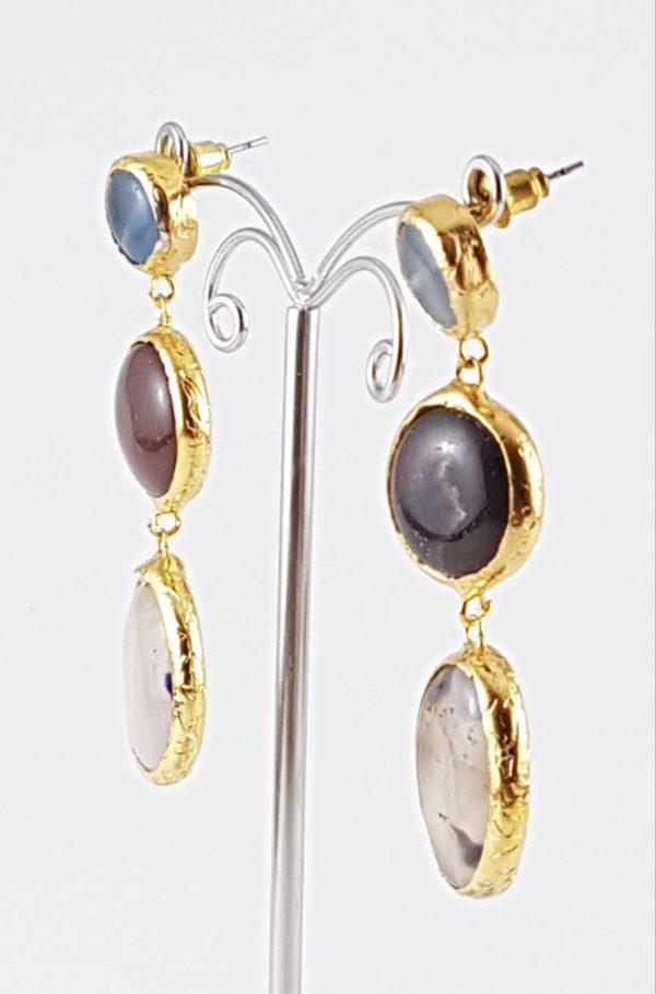 orecchini pendenti pietre classiche