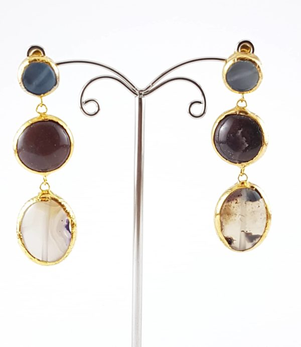 orecchini pendenti pietra classica