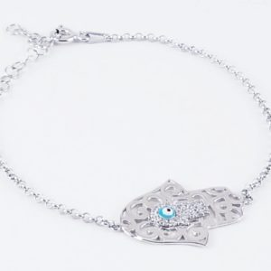 bracciale in argento mano di fatima Bracciale in argento Mano di Fatima 60 300x300