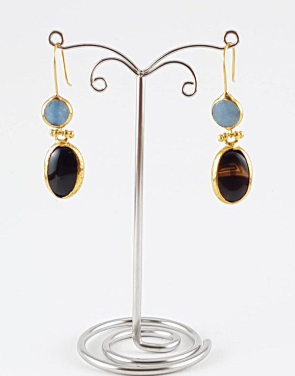 orecchino pietra naturale blu