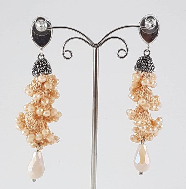 orecchini perla naturale marcassite retro