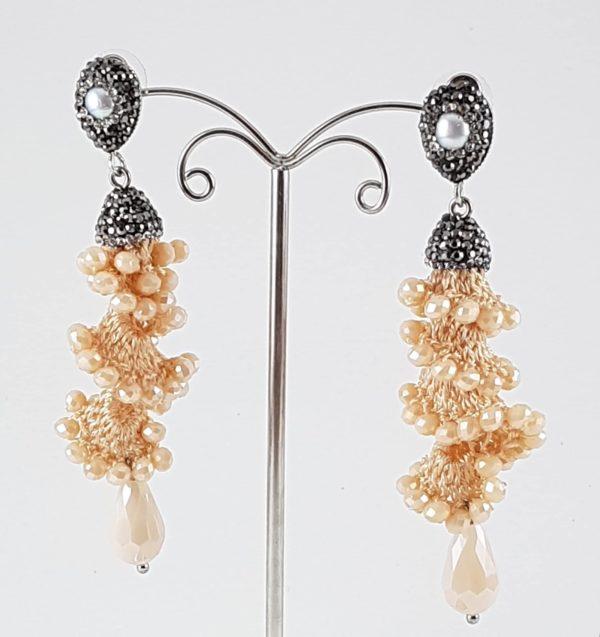 orecchini perla naturale marcassite