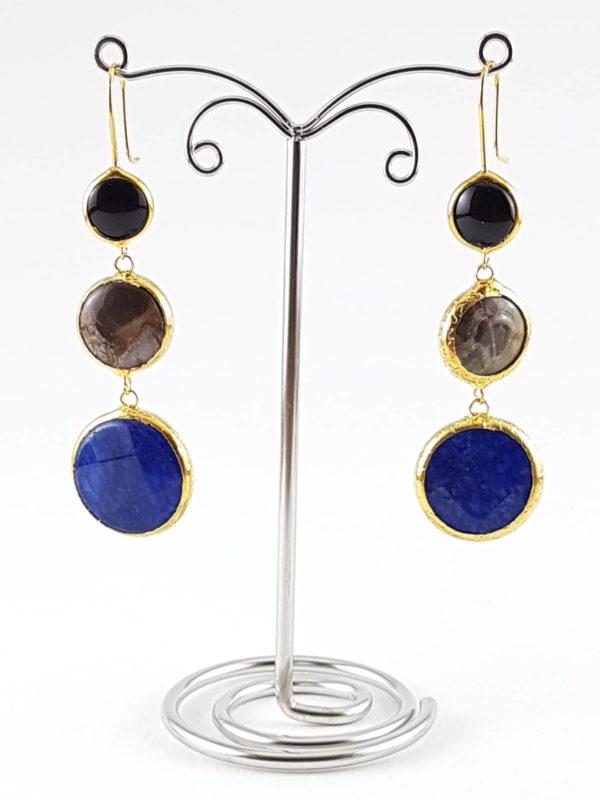 orecchini pietre naturali blu