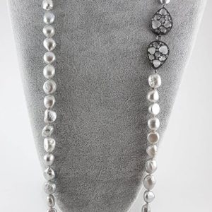 collana lunga perle grigie collana lunga perle grigie Collana Lunga Perle Grigie CL10  lunga 90 cm prezzo 90     300x300