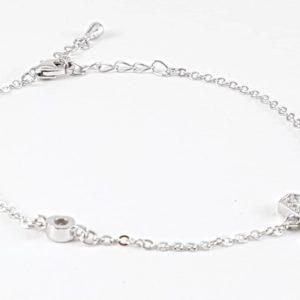 bracciale argento lettera a Bracciale Argento Lettera A 66 300x300