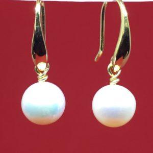 collana girocollo con lapislazzuli e con perle di fiume naturali Orecchini con Perla Naturale di Fiume IMG E2620 300x300