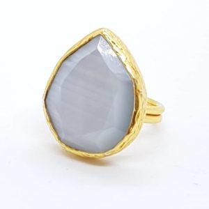 anello regolabile con quarzo grigio anello con quarzo grigio Anello con quarzo grigio 56764500 443096316494786 2839066690820505600 n 300x300