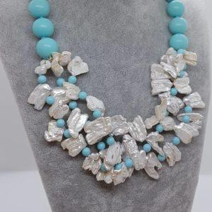 Collana con perle naturali e con perle di turchese  Collana con perle naturali e con perle di turchese CL36 56744643 280111496200507 762119320787484672 n 300x300
