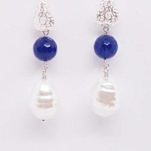 orecchini con lapislazzuli Orecchini con lapislazzuli e con perle di Majorca 3 300x300