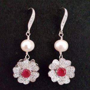 Orecchini con perla naturale e con radice di rubino 41052048 2258985037663961 1780932073599533056 n 300x300