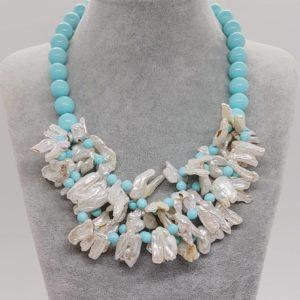 collana con perle Collana con perle naturali e con perle di pasta di turchese 78069478 518051375459153 6866814985817817088 n 300x300