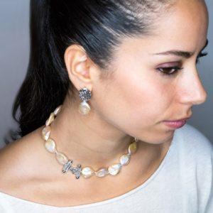 parure collana e orecchini Parure collana e orecchino con perle scaramazze rosa Silvana Mannucci Gioielli foto 16 300x300