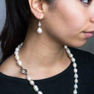 parure collana e orecchini Parure collana e orecchino con perle classiche coltivate Silvana Mannucci Gioielli foto 48 300x300