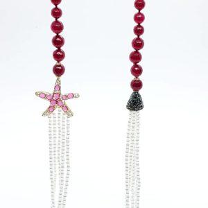 collana con lapislazzuli dell'afganistan Collana con perle di Majorca e onice rossa 70496483 1143688789155982 9022335651499999232 n 1 300x300