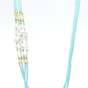 collana lunga a 4 fili con perle scaramazze, cristalli swarovski e perle naturali Collana lunga a 4 fili con perle scaramazze, cristalli Swarovski turchesi e perle naturali 70910925 623265134747989 1894380752800317440 n 300x300