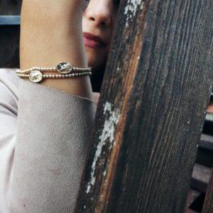 bracciale con moneta in argento bagnato oro Bracciale con moneta in argento bagnato oro 3 300x300