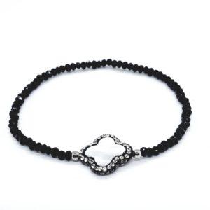 bracciale da donna in argento rodiato argento sterling 925 Bracciali elasticizzati con la madreperla e Swarovski. 78317464 598025260969622 3520714301759291392 n 300x300