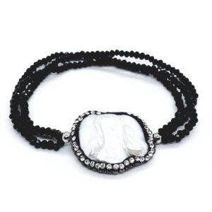 bracciale da donna in argento rodiato argento sterling 925 Bracciali elasticizzati con 3 fili di Swarovski 78854158 572727126619725 2797678710919004160 n 300x300