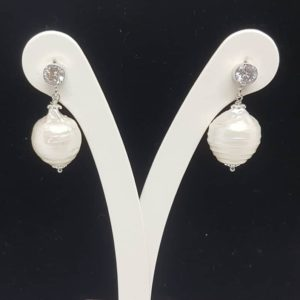 orecchini perle scaramazze e zirconi