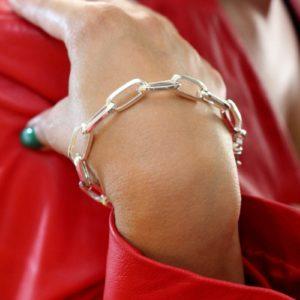 Bracciale Cecilia in argento a maglie larghe