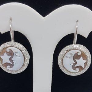 orecchini in argento con cammeo