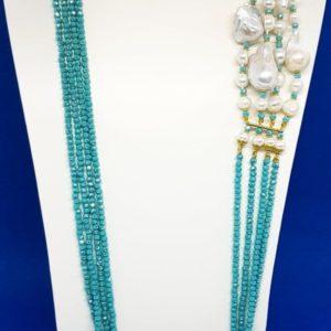 collana isola di ponza con swarovski e perle
