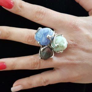 ISOLA BELLA anello in argento con pietre naturali