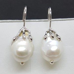 orecchini con perle scaramazze
